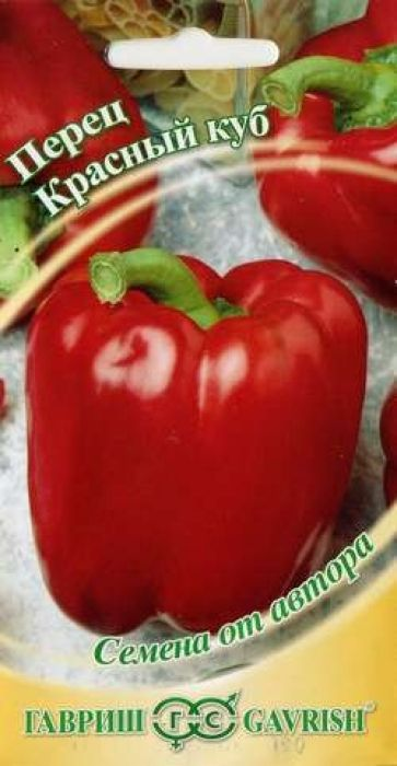 Семена Гавриш Перец. Красный куб4601431035706 Уважаемые клиенты! Обращаем ваше внимание на то, что упаковка может иметь несколько видов дизайна. Поставка осуществляется в зависимости от наличия на складе.