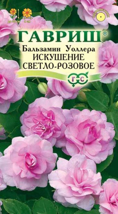Семена Гавриш Бальзамин. Уоллера Искушение Светло-розовое F14601431042025