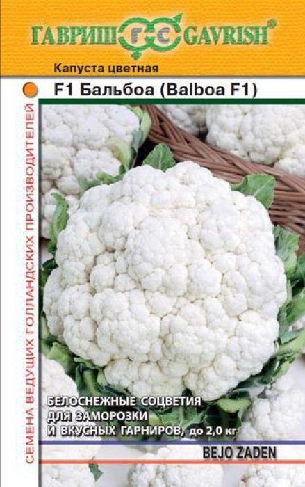 Семена Гавриш Капуста цветная. Бальбоа F14601431050204 Уважаемые клиенты! Обращаем ваше внимание на то, что упаковка может иметь несколько видов дизайна. Поставка осуществляется в зависимости от наличия на складе.