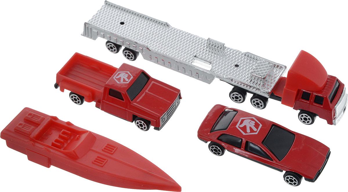 Город игр Набор машинок Транспорт спасателей 4 шт autotime набор машинок recovery truck long эвакуатор с прицепом