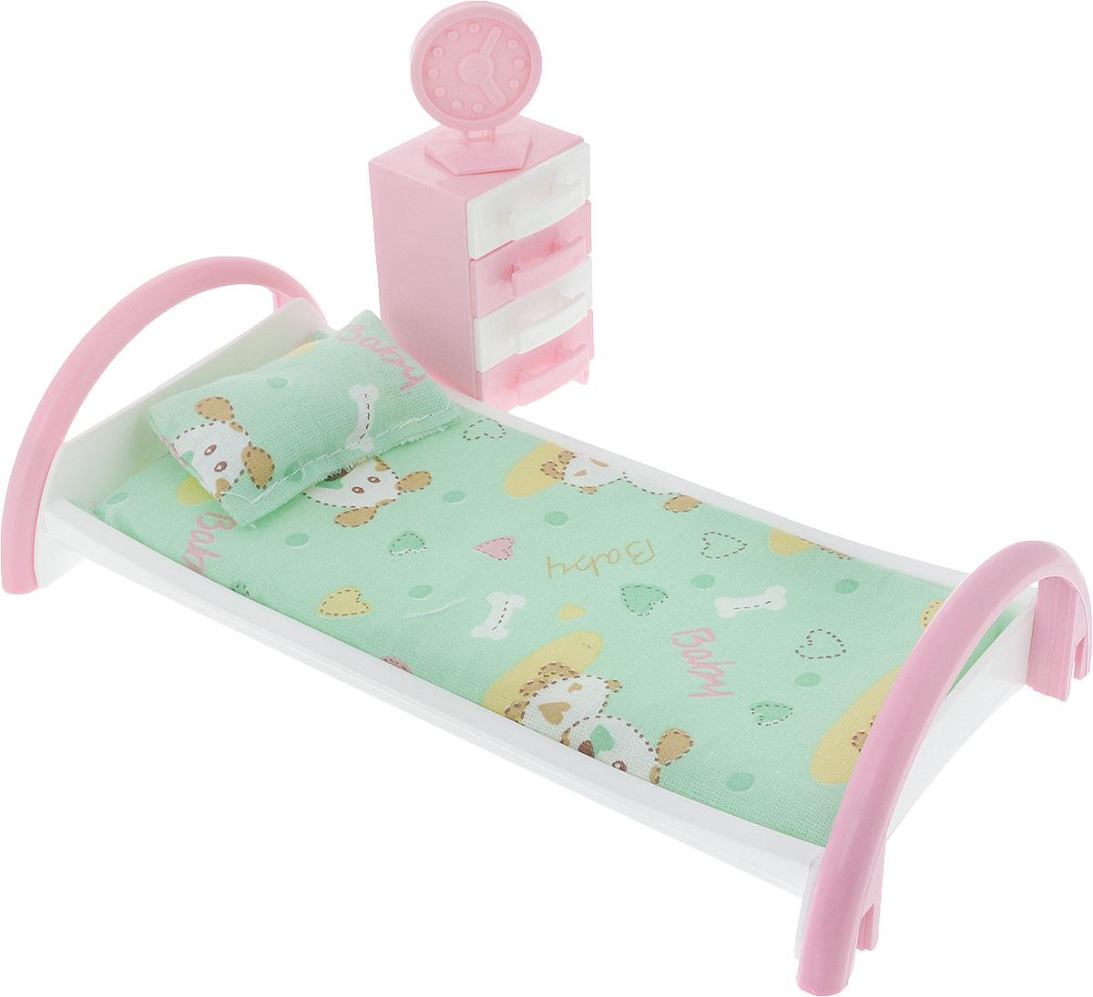 Форма Набор мебели для кукол Кровать с тумбочкой Собака