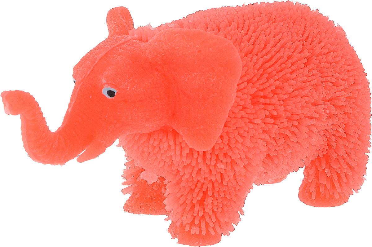 1TOY Антистрессовая игрушка Нью-Ёжики Слоник цвет коралловый 1toy игрушка антистресс ё ёжик животное цвет бежевый