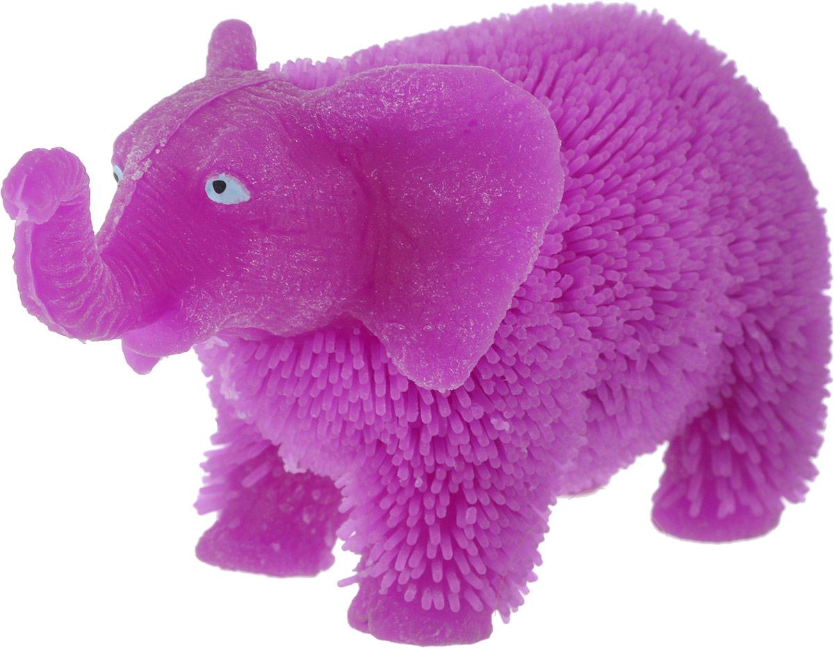 1TOY Антистрессовая игрушка Нью-Ёжики Слоник цвет фиолетовый 1toy игрушка антистресс ё ёжик животное цвет бежевый