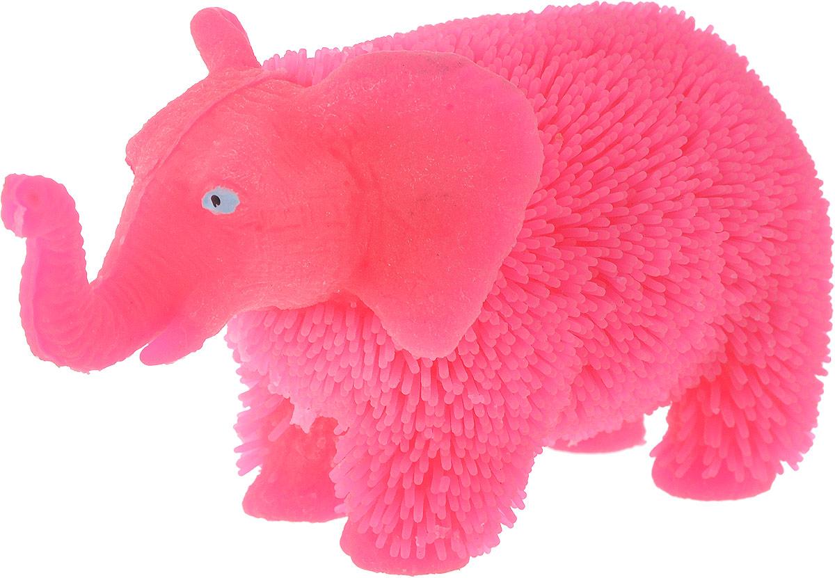 1TOY Антистрессовая игрушка Нью-Ёжики Слоник цвет розовый 1toy игрушка антистресс ё ёжик животное цвет бежевый