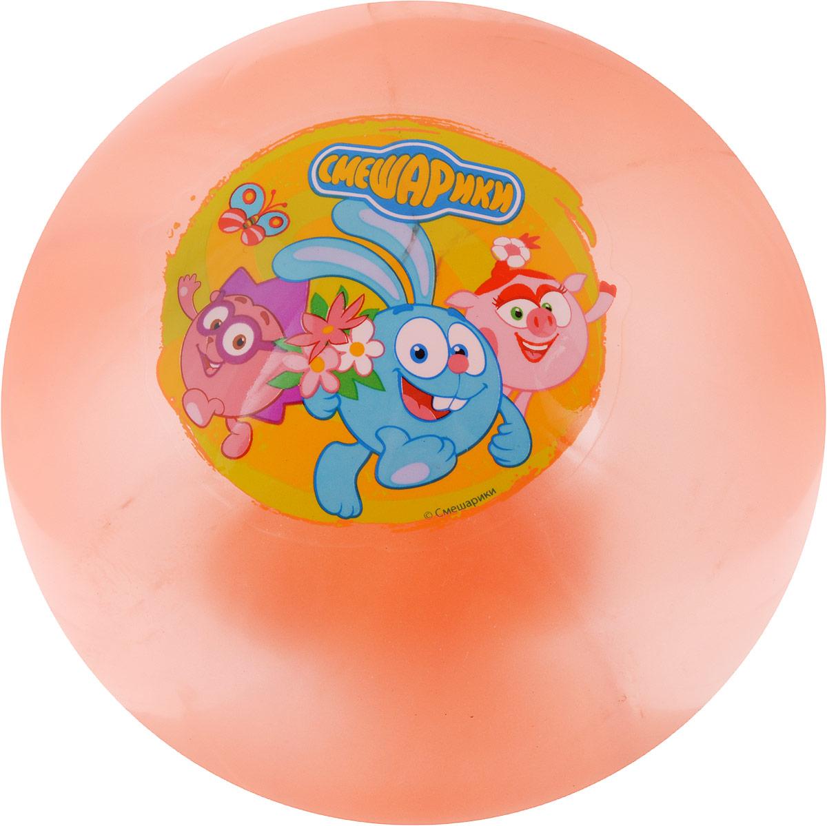 Играем вместе Мяч Смешарики цвет оранжевый 23 см