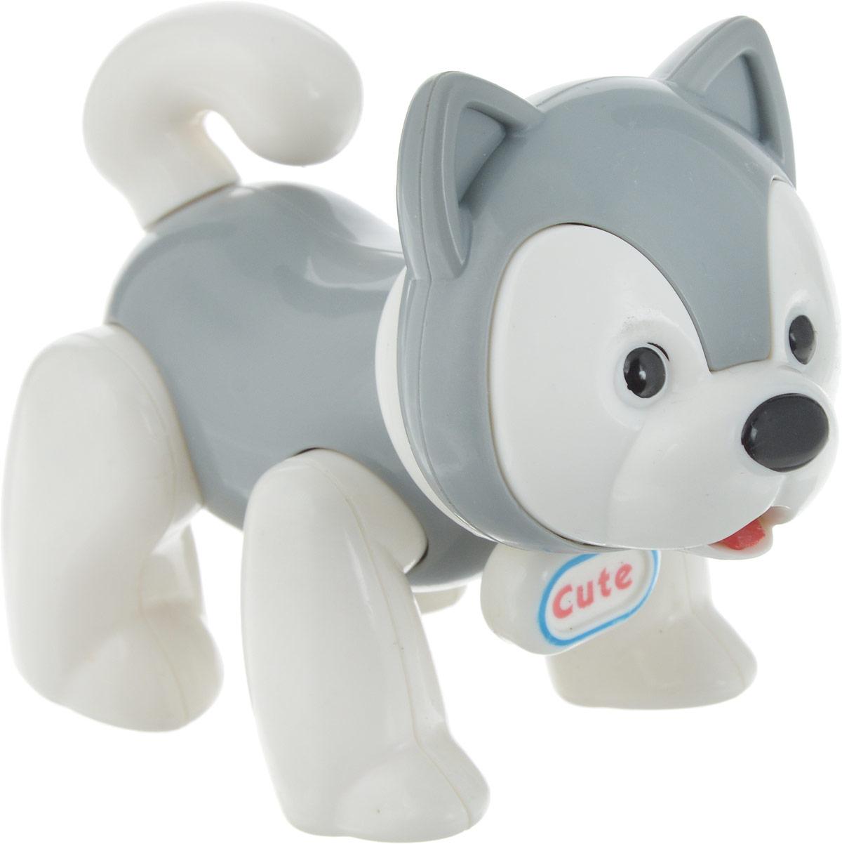 Ути-Пути Развивающая игрушка Собачка цвет серый