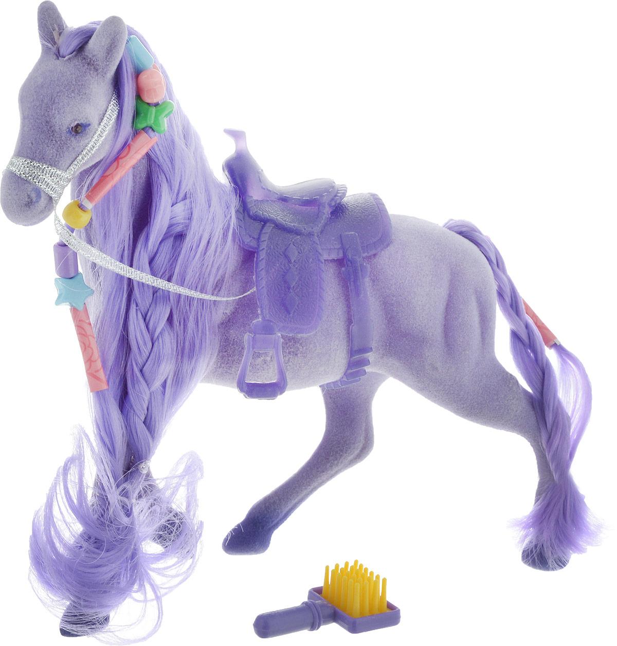 Играем вместе Фигурка Волшебная лошадка цвет фиолетовый декоративная фигурка лошадка с повозкой 31802