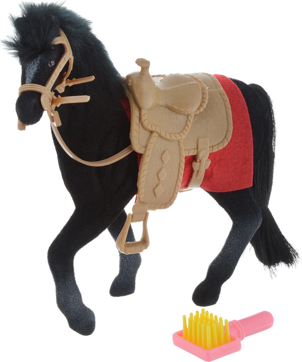 Играем вместе Фигурка Лошадь цвет черный пегас играем вместе флокированное покрытие с аксессуароми играем вместе