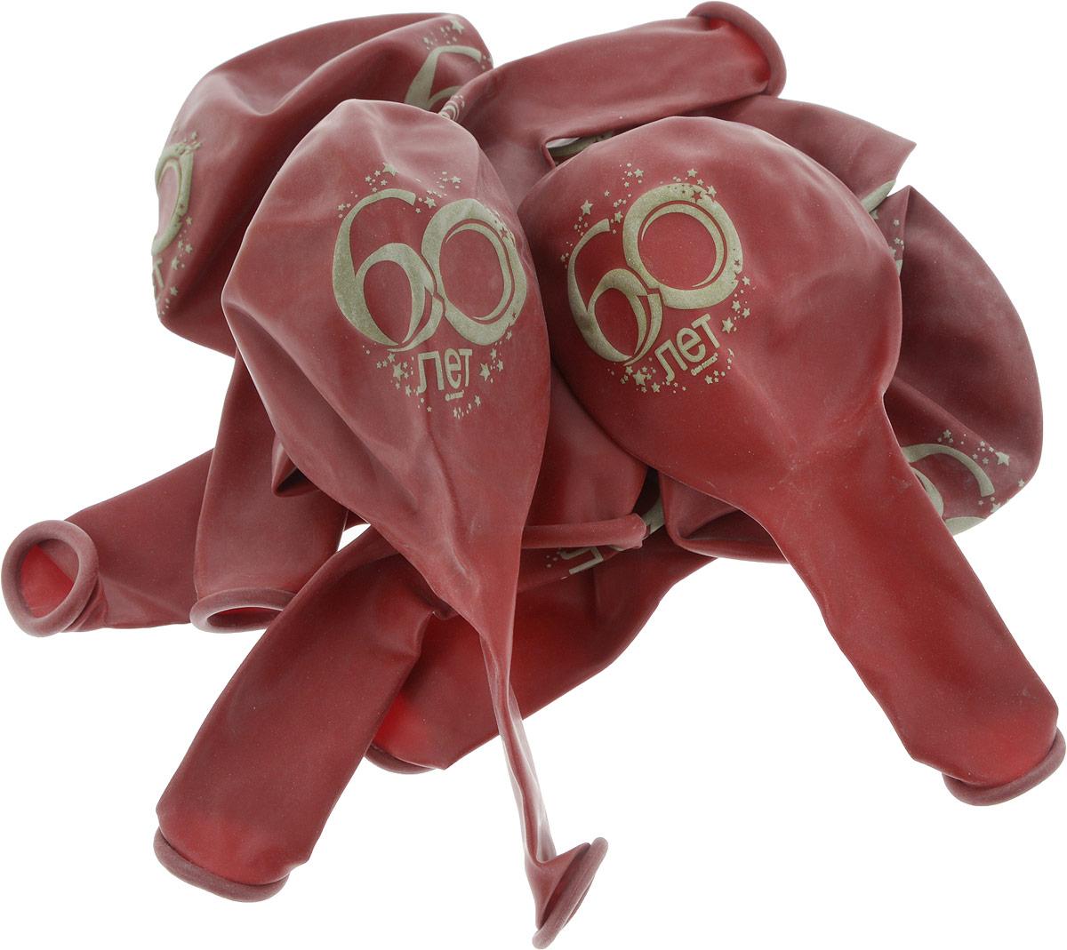 Latex Occidental Набор воздушных шариков Юбилей цифра 60 10 шт