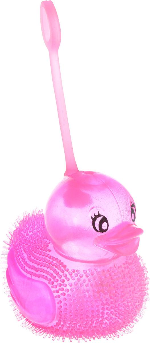 1TOY Антистрессовая игрушка Нью-Ёжики Уточка цвет розовый