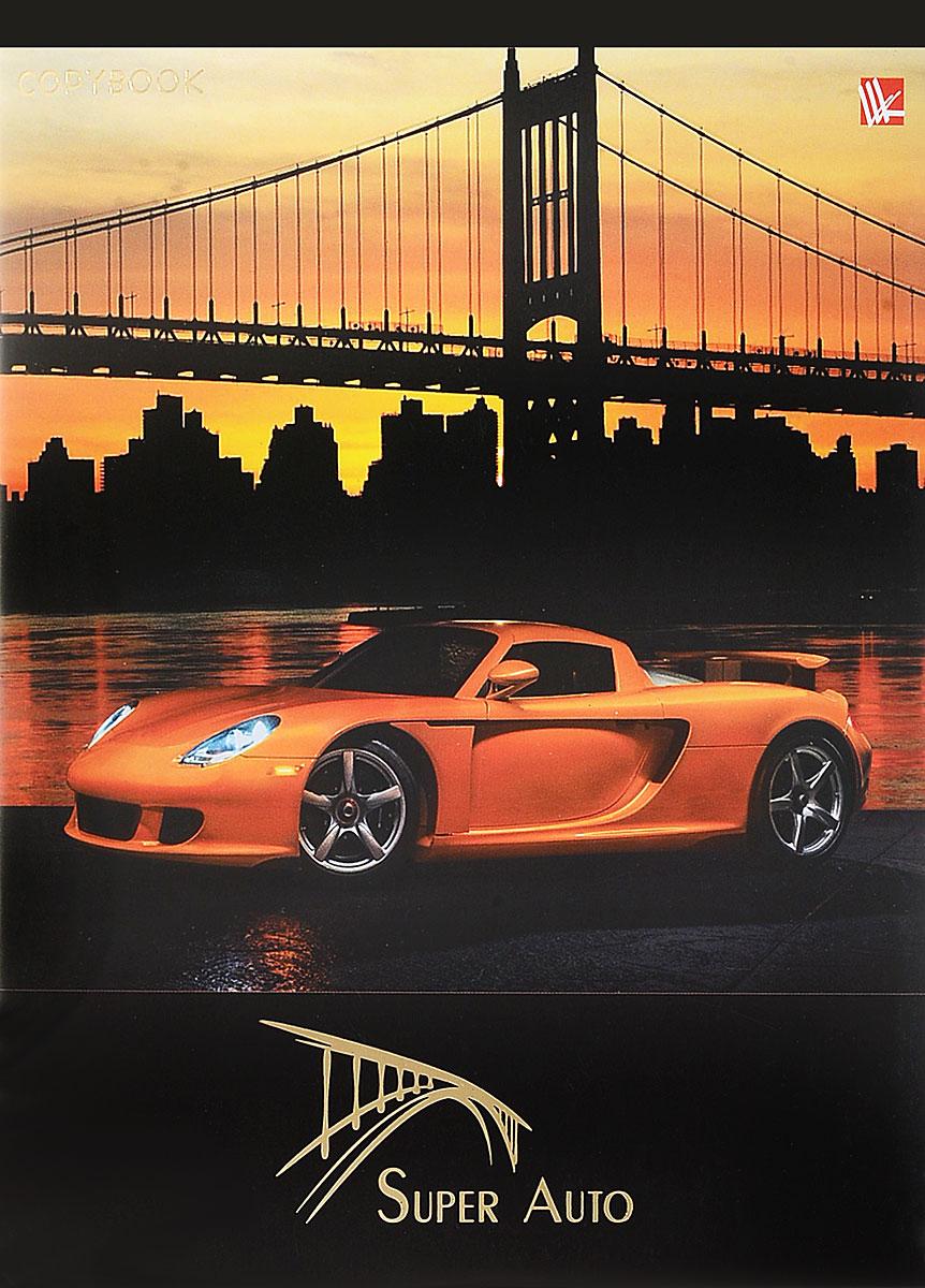 Канц-Эксмо Тетрадь Городские гонщики 96 листов в клетку цвет оранжевыйТФ965021_оранжевый