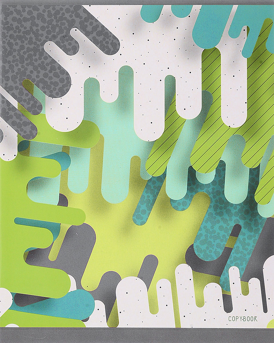 Канц-Эксмо Тетрадь Цветовые импровизации 48 листов в клетку цвет белый зеленыйТК2Л485468_белый, зеленый