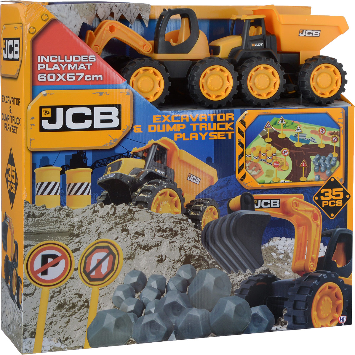 HTI Набор машинок JCB с аксессуарами 2 шт плоскогубцы jcb jpl005