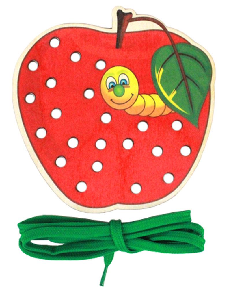 Рыжий Кот Игра-шнуровка Красное яблоко