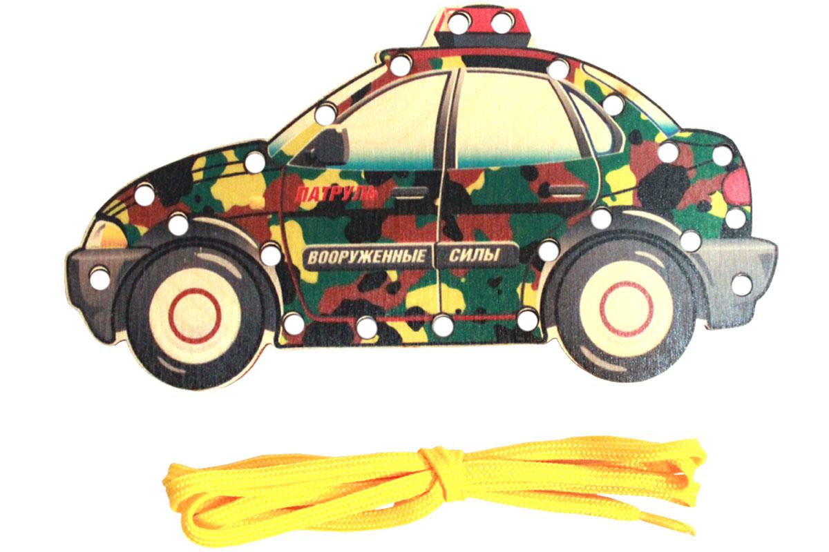 Рыжий Кот Игра-шнуровка Важный транспорт Военный патруль игрушки для зимы росигрушка песочный набор транспорт 3 л дорожный патруль