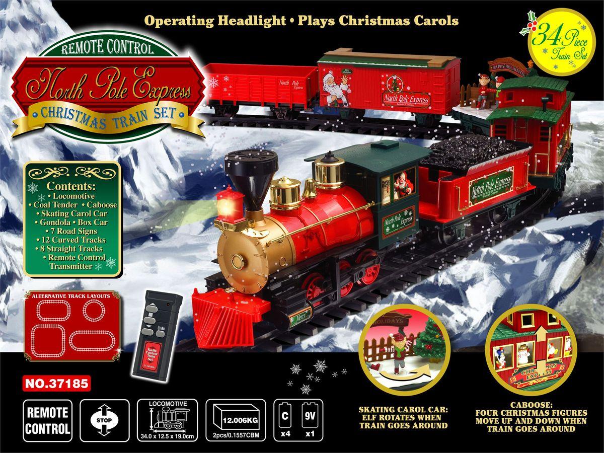 EZTEC Железная дорога новогодняя радиоуправляемая Christmas North Pole Express 36 частей - Железные дороги