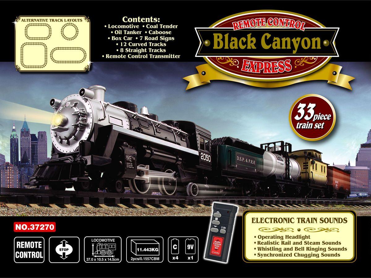 EZTEC Железная дорога радиоуправляемая Black Canyon Express