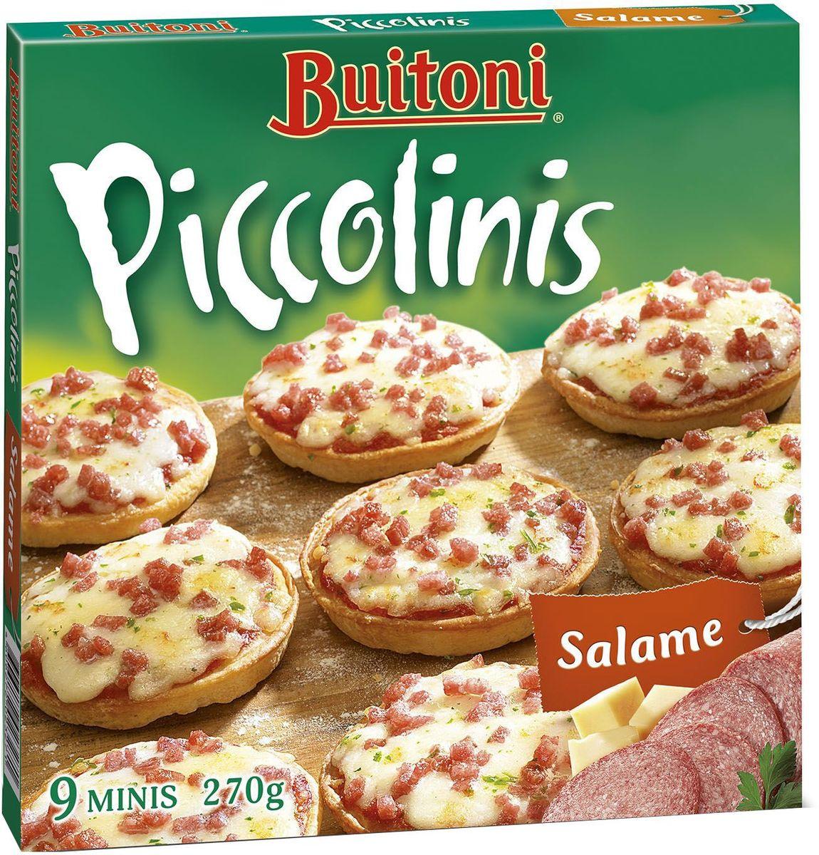 Buitoni La Pizzeria Пикколини Салями, 270 г4606272023271Попробуй Пиццу Buitoni - придай жизни вкус Италии.Пицца Buitoni выпекается в настоящей каменной печи. Благодаря равномерному жару, исходящему от природного камня, пицца становится более тонкой, хрустящей и вкусной. Секрет пиццы Буитони заключается в комбинации свежих натуральных ингредиентов - томатов, созревающих на жарком солнце, лучших сортов сыра и ароматных специй.