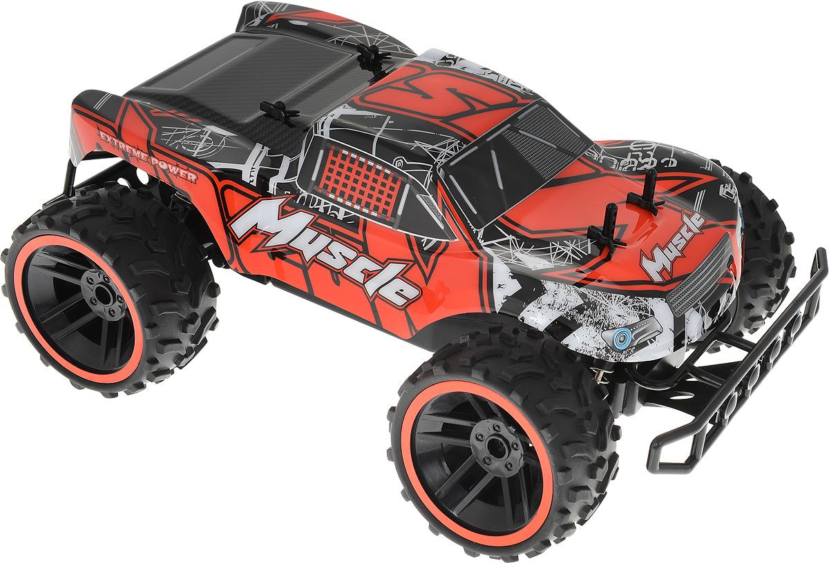 Пламенный мотор Монстр-трак на радиоуправлении цвет красный машинка пламенный мотор внедорожник 87588