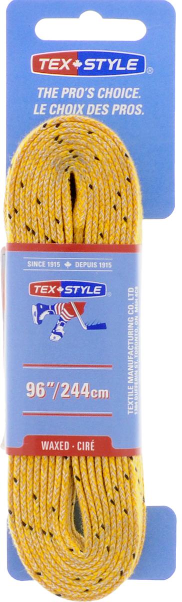Шнурки для коньков Tex Style, с пропиткой, цвет: желтый, 2,44 м, 2 штУТ-00007774Шнурки для коньков Tex Style с пропиткой - это шнурки уникальной разработки, они гарантируют правильное количество воска в структуре шнурка, которое предотвращает их шелушение и развязывание.Такие шнурки идеально подойдут для фигурных и хоккейных коньков.Длина шнурков: 2,44 м.Ширина шнурков: 8 мм.
