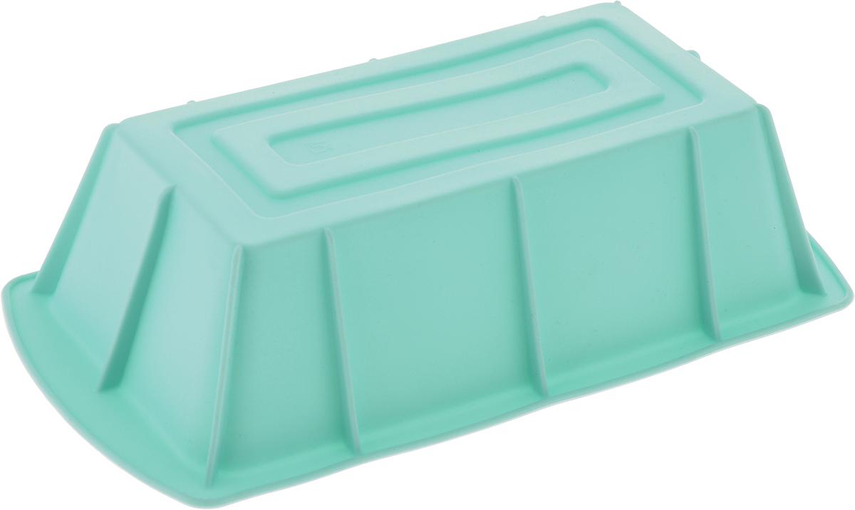 """Форма для выпечки """"Paterra"""" изготовлена из высококачественного силикона. Стенки формы гнутся, что позволяет легко достать готовую выпечку и сохранить аккуратный внешний вид блюда.  Силикон - материал, который выдерживает температуру от -40°С до +250°С. Изделия из силикона очень удобны в использовании: пища в них не пригорает и не прилипает к стенкам, форма легко моется. Приготовленное блюдо можно очень просто вытащить, просто перевернув форму, при этом внешний вид блюда не нарушится. Изделие обладает эластичными свойствами: складывается без изломов, восстанавливает свою первоначальную форму. Порадуйте своих родных и близких любимой выпечкой в необычном исполнении.  Размер формы: 25 х 13 х 6,5 см."""