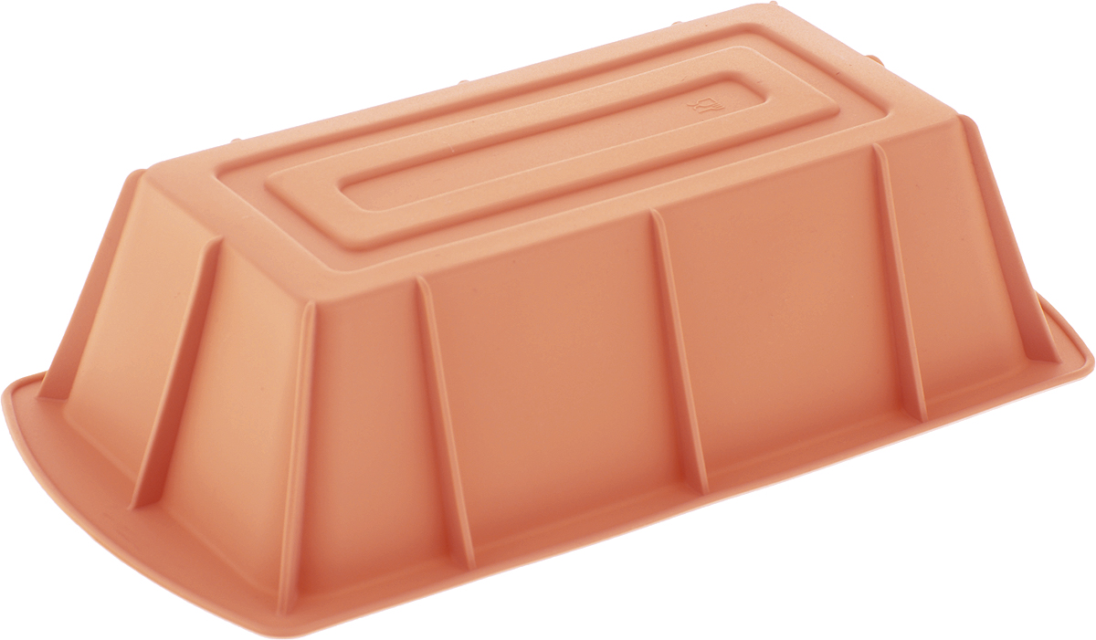 Форма для выпечки Paterra, силиконовая, цвет: персиковый, 25 х 13 х 6,5 см402-440_персиковыйФорма для выпечки Paterra изготовлена из высококачественного силикона. Стенки формы гнутся, что позволяет легко достать готовую выпечку и сохранить аккуратный внешний вид блюда.Силикон - материал, который выдерживает температуру от -40°С до +250°С. Изделия из силикона очень удобны в использовании: пища в них не пригорает и не прилипает к стенкам, форма легко моется. Приготовленное блюдо можно очень просто вытащить, просто перевернув форму, при этом внешний вид блюда не нарушится. Изделие обладает эластичными свойствами: складывается без изломов, восстанавливает свою первоначальную форму. Порадуйте своих родных и близких любимой выпечкой в необычном исполнении.Размер формы: 25 х 13 х 6,5 см.