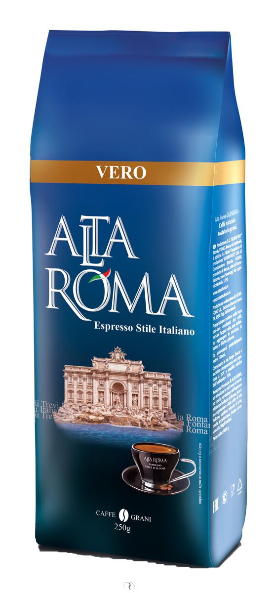 Altaroma Vero кофе в зернах, 250 г00000008245Свежеобжареный кофе расфасованный в многослойную комбинированную пленку. Срок годности 24 мес