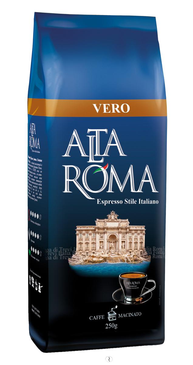 Altaroma Vero кофе молотый, 250 г danesi decaf кофе молотый 250 г
