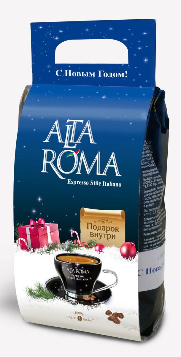 Altaroma Intenso кофе в зернах подарочный набор, 1 кг2072Набор кофе в Новогоднем дизайне с ручкой + календарь магнит 2018г.