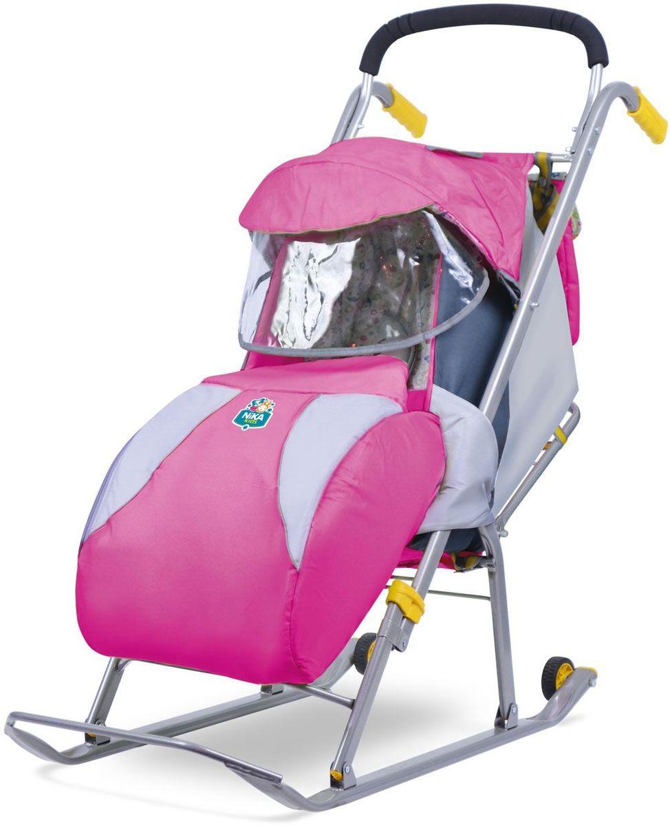 Ника Санки-коляска Детям 1 цвет розовый