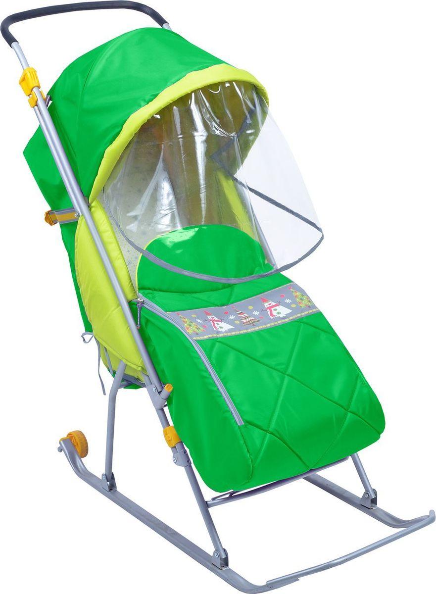 Ника Санки-коляска Тимка Люкс цвет зеленый