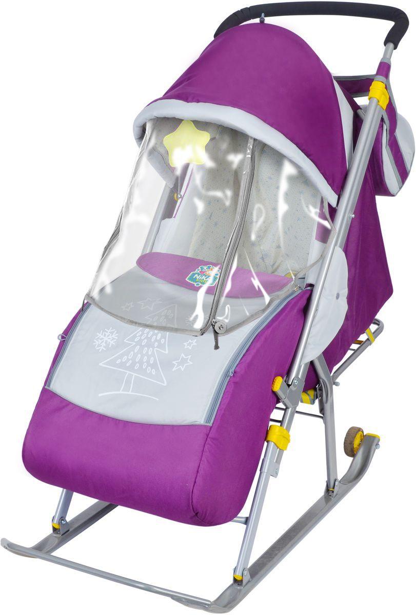 Ника Санки Детям 4 цвет фиолетовый