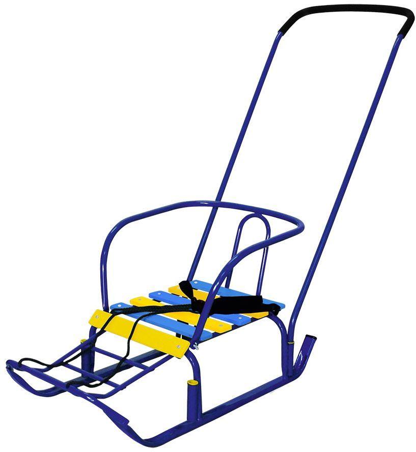 Ника Санки Тимка 3 цвет синийТ3Санки Тимка 3+ имеют колесики для преодоления участков дороги без снега.Санки на невысоких полозьях с достаточно широкой базой, что придает имдополнительную устойчивость и сводит к минимуму возможностьпереворачивания на поворотах. Для удобства родителей детские санки ТИМКА 3+ снабжены удобной съемнойручкой-толкателем, которую можно использовать на обе стороны санок, какспереди так и сзади.Характеристики:- плоские полозья (30 мм) - поперечная рейка - ручка на два положения - ступенчатая подножка - пластиковые вкладыши под толкатель - ремень безопасности - колесо - длина сиденья: 390 мм - ширина сиденья: 290 мм