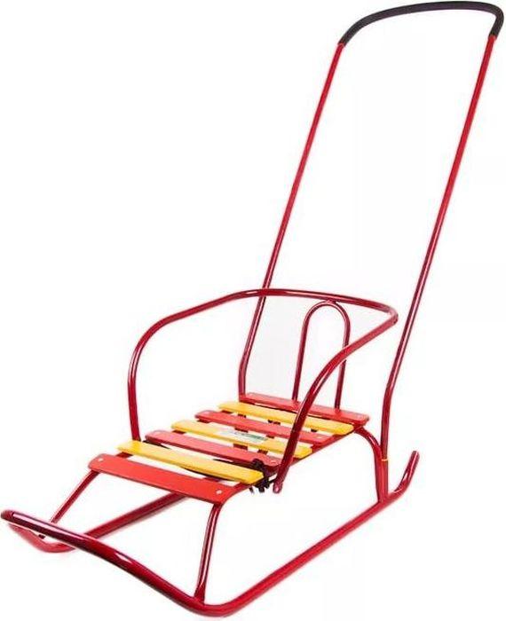Ника Санки Ветерок 2 цвет красныйВ2круглые полозья диаметр 20, удлиненная база, поперечная рейка сиденья, пластиковые вкладыши под толкатель, длина сиденья 460мм, ширина- 290мм, вес санки без ручки 2,6кг