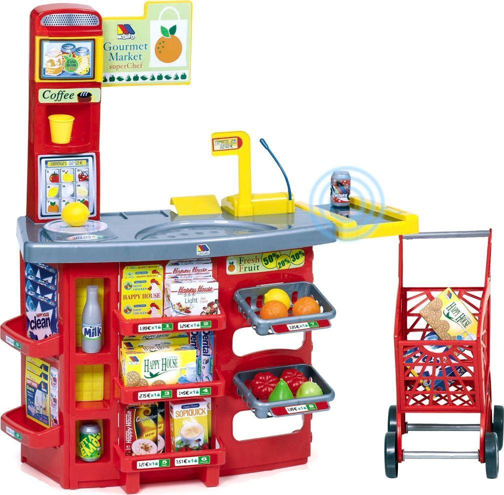 Molto Игровой супермаркет звуковой с тележкой супермаркет smoby с тележкой со звуком красный