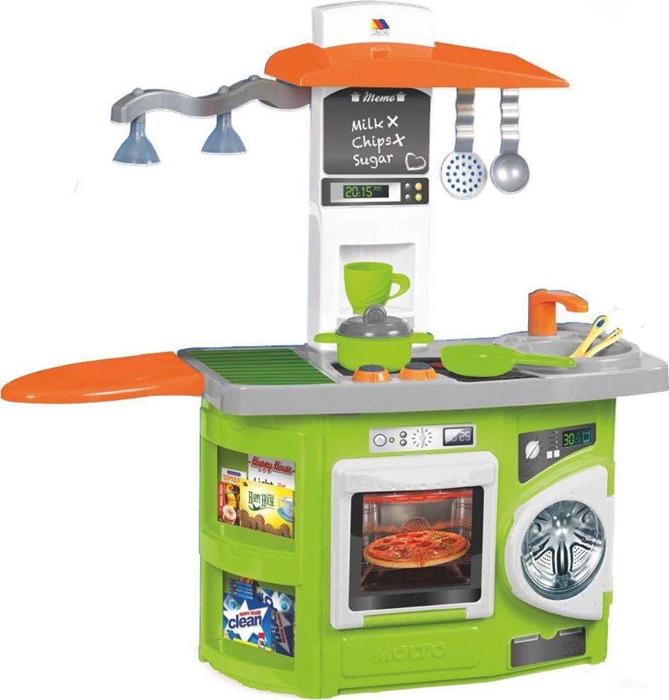 Molto Игровая кухня со светом посуда из пластика интернет магазин