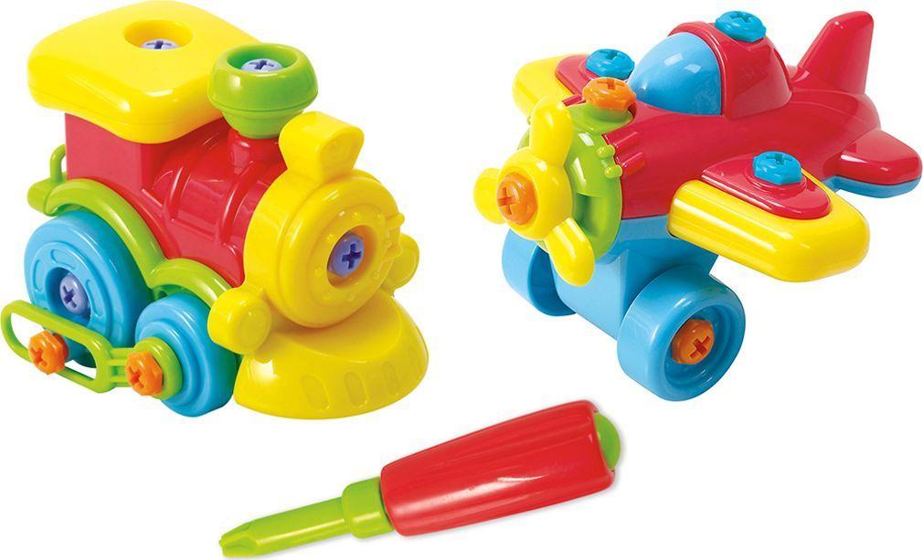 PlayGo Набор Юный механик с самолетом и паровозом - Сюжетно-ролевые игрушки