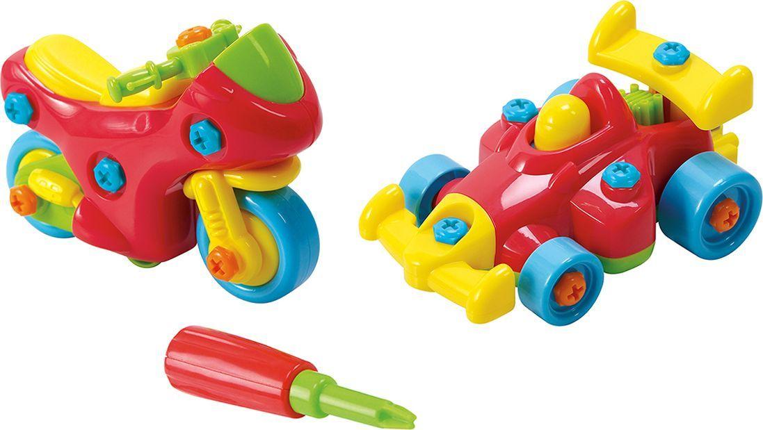 PlayGo Набор Юный механик с мотоциклом и гоночной машиной - Сюжетно-ролевые игрушки