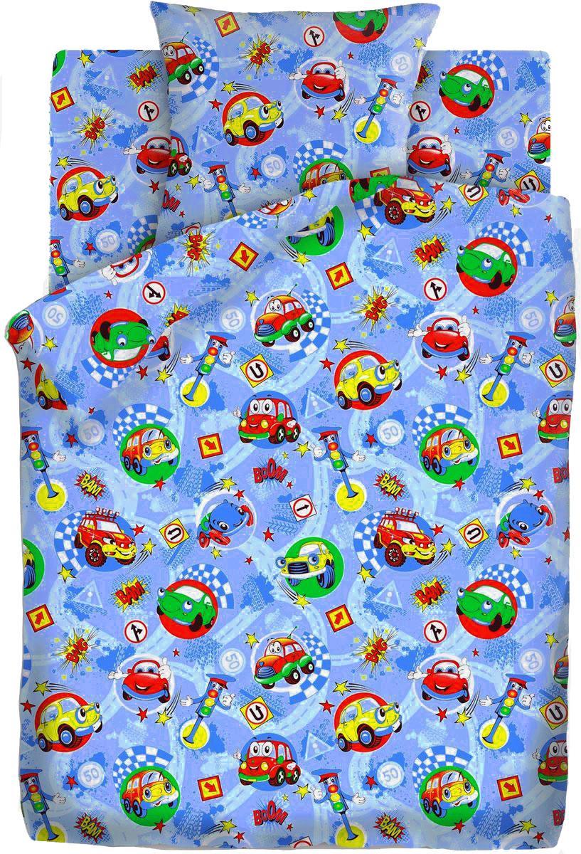Комплект детского постельного белья Кошки-мышки Машинки, 1,5-спальный, наволочки 70х70407365Комплект детского постельного белья Кошки-мышки Машинки, выполненный из бязи (100% хлопка), состоит из пододеяльника, простыни и наволочки.Бязь - хлопчатобумажная ткань полотняного переплетения без искусственных добавок. Большое количество нитей делает эту ткань более плотной, более долговечной. Высокая плотность ткани позволяет сохранить форму изделия, его первоначальные размеры и первозданный рисунок.Приобретая комплект постельного белья Кошки-мышки Машинки, вы можете быть уверенны в том, что покупка доставит вам и вашим близким удовольствие и подарит максимальный комфорт.