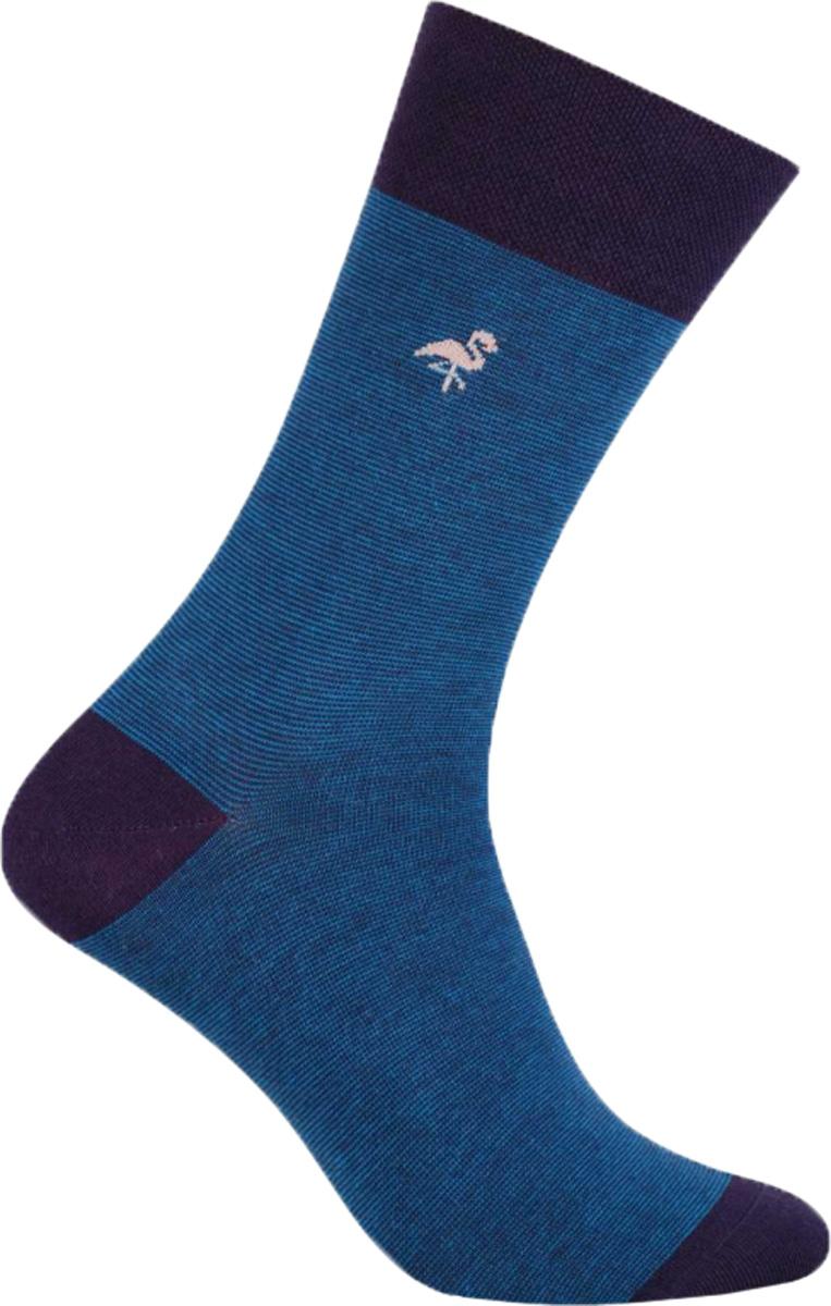 Носки мужские More Полоска, цвет: синий. 051 (UG002). Размер 43/46051 (UG002)Стильные деловые мужские носки More изготовлены из высококачественного хлопка, они приятны на ощупь, не раздражают кожу, позволяя ей дышать. Модель отлично облегает стопу. Имеют удобную не сдавливающую резинку.Изделие дополнено принтом.
