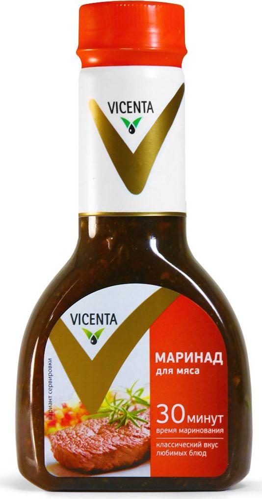 Vicenta маринад для мяса, 320 г81800Классический маринад VICENTA все сделает за вас, буквально за полчаса придав мясу нежность и новые оттенки вкуса. Все, что остается - подрумянить это изысканное блюдо на огне.