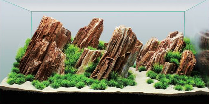 Декорация для аквариума Meijing Aquarium Незабываемый пейзаж. YS-201684YS-201684Композиция Незабываемый пейзаж для аквариума 90 х 45 х 45 см. Состоит из 4 скал икомплекта растений. Все скалы имеют перфорацию внизу. Слой грунта у передней стенки - 5 см, у задней стенки - 20 см. Предпочтительно использоватьчерный или темно-коричневый грунт фракцией 3-4 мм как базовый грунт. Также понадобитсябелый кварцевый песок.Укомплектован пластиковыми растениями:2C-01 - 60 шт (красные точки на планограмме)2C-3 - 53 шт (голубые точки на планограмме)2C-02 - 10 шт (желтые точки на планограмме) ДОБАВЛЯЕТСЯ ПО ЖЕЛАНИЮ Сборка.- Установите аквариум размером 90 х 45 х 45 см на ровную поверхность. Габариты аквариумамогут варьироваться в пределах 2-3 см.- Установите все скалы, так как показано на планограмме. Убедитесь, что скалы расположеныпод правильным углом друг к другу.- Начинайте засыпать грунт. Предпочтительно использовать черный или темно-коричневыйгрунт фракцией 3-4 мм. Продолжайте засыпать грунт, пока перфорация в нижней частидекорации не будет полностью закрыта. Слой грунта у передней стенки должен быть 5 см, узадней стенки - 20 см.- Насыпьте кварцевый песок тонким слоем поверх основного грунта, так как показано напланограмме.- Установите пластиковые растения так, как показано на планограмме. Обратите внимание, чтонекоторые растения могут располагаться под углом, или могут располагаться в расщелинахмежду скалами.- Накройте переднюю часть аквариума пленкой или газетой и начинайте медленно заливатьводу.- Когда аквариум будет полностью залит, выньте укрывной материал.