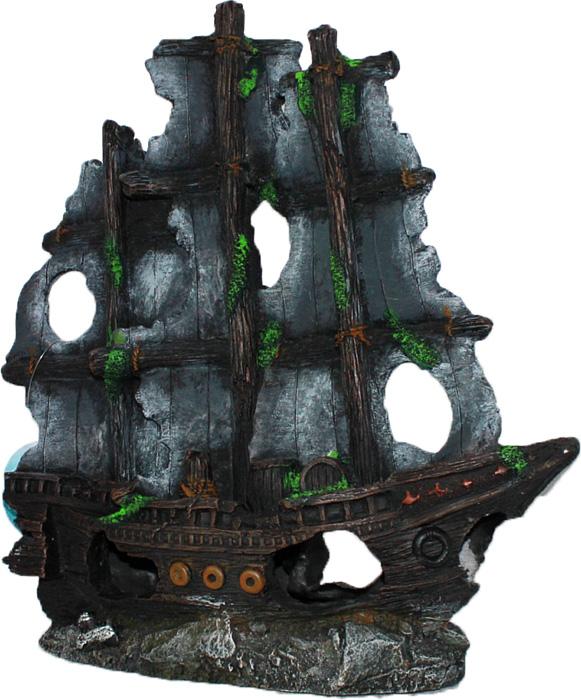 Грот Meijing Aquarium Затонувший пиратский корабль. YM-834AYM-834AАквариумный грот – это отличный элемент дизайна. Оригинальные аквариумные украшения придают подводному ландшафту завершенный вид, что крайне важно, ведь одной из главнейших функций аквариума в интерьере является функция эстетическая. Но декорация-грот – это еще и прекрасное укрытие для рыбок и иных обитателей подводного мира. Особенно – в том случае, если кто-либо из ваших питомцев проявляет излишнюю агрессивность по отношению к соседям. В таком случае грот для аквариума окажется совершенно незаменимым. Грот Meijing Aquarium прекрасно впишется в любой интерьер аквариума. А в сочетании с другими элементами декора сделает среду обитания ваших рыбок максимально приближенной к морской среде. Декорация абсолютно безвредна для рыб и растений. Грот тонет и не требует дополнительной фиксации в аквариуме. Может использоваться как в пресной, так и в морской воде. Изделие не токсично, не тускнеет и не теряет цвета, краска не облазит.