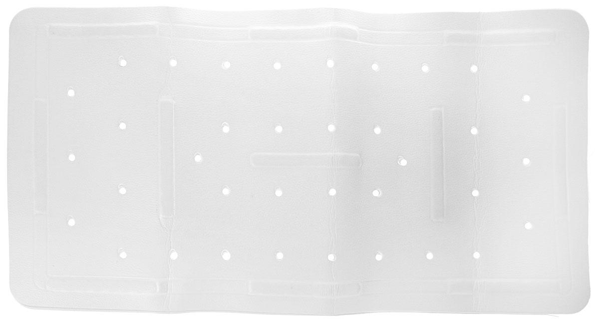 Коврик в ванну Bacchetta, цвет: белый, 36 х 71 см2197Практичный коврик на присосках для ванной Bacchettaвыполнен из высококачественного вспененного ПВХ, поэтомуизделие обладает мягкостью и эластичностью. Коврикподходит для всех типов ванн и душевых кабин, он хорошофиксируется на поверхности за счет вакуумных присосок.Предназначен для использования в ванне или душевойкабине в гигиенических целях и для обеспечениябезопасности. Коврик предотвращает возможность травм припадении на скользкой поверхности.