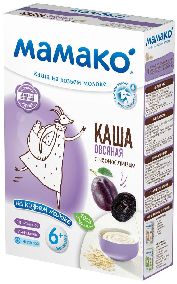 Мамако каша овсяная с черносливом на козьем молоке, 200 г