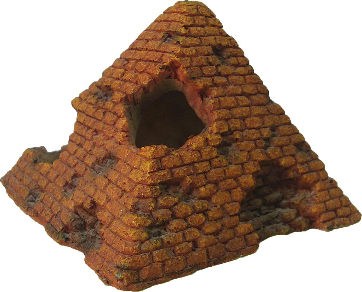 Грот Meijing Aquarium Пирамида. AC-125AC-125Аквариумный грот – это отличный элемент дизайна. Оригинальные аквариумные украшения придают подводному ландшафту завершенный вид, что крайне важно, ведь одной из главнейших функций аквариума в интерьере является функция эстетическая. Но декорация-грот – это еще и прекрасное укрытие для рыбок и иных обитателей подводного мира. Особенно – в том случае, если кто-либо из ваших питомцев проявляет излишнюю агрессивность по отношению к соседям. В таком случае грот для аквариума окажется совершенно незаменимым. Грот Meijing Aquarium прекрасно впишется в любой интерьер аквариума. А в сочетании с другими элементами декора сделает среду обитания ваших рыбок максимально приближенной к морской среде. Декорация абсолютно безвредна для рыб и растений. Грот тонет и не требует дополнительной фиксации в аквариуме. Может использоваться как в пресной, так и в морской воде. Изделие не токсично, не тускнеет и не теряет цвета, краска не облазит.