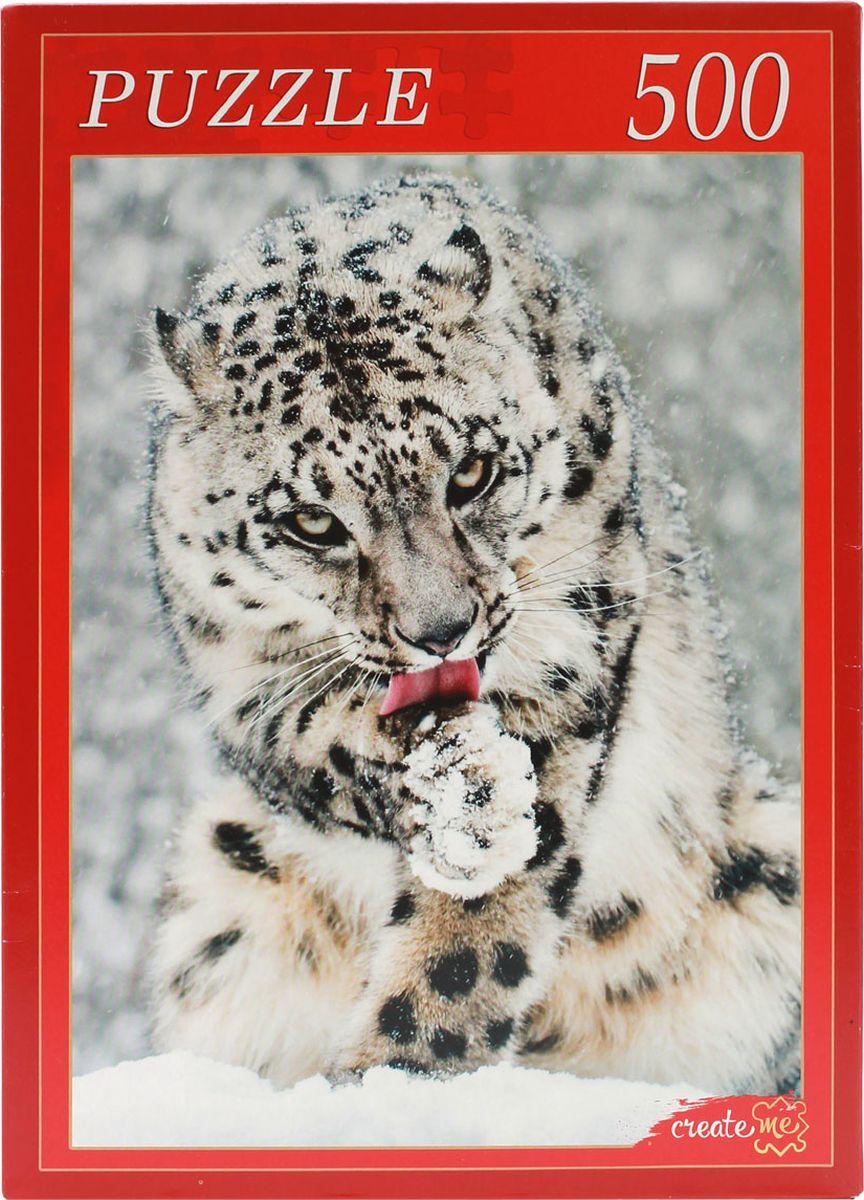 Рыжий Кот Пазл Снежный леопард