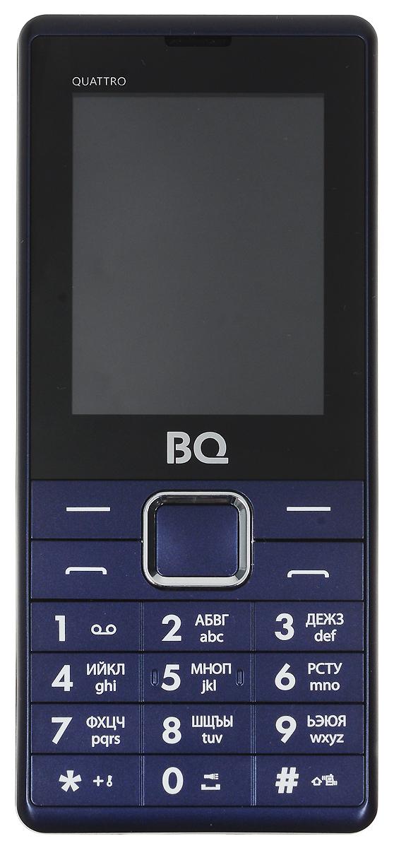 BQ 2412 Quattro, Dark Blue - Мобильные телефоны