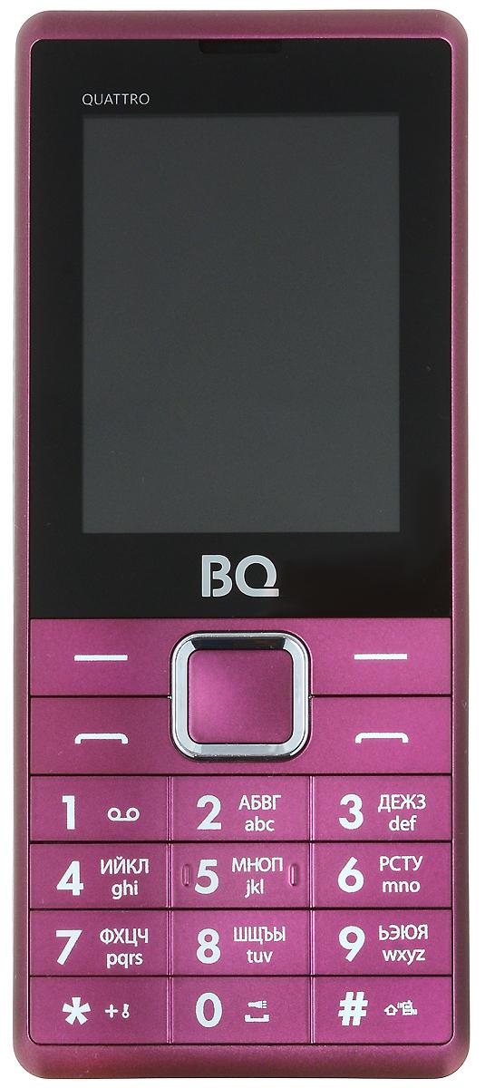 BQ 2412 Quattro, Dark Red - Мобильные телефоны