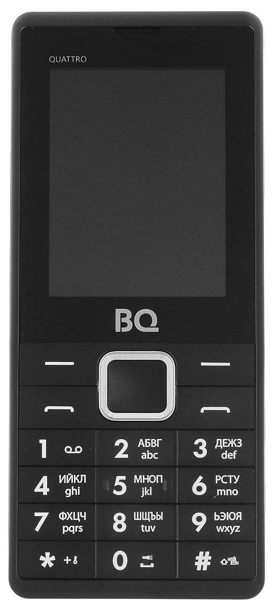 BQ 2412 Quattro, Black - Мобильные телефоны